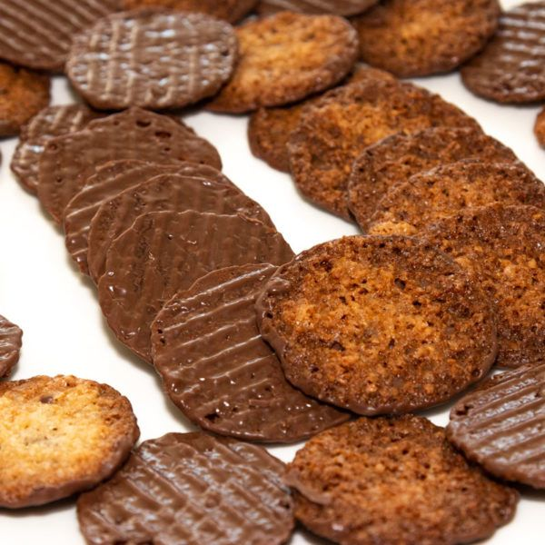 Rusitas, galletas de chocolate y almendra